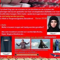 De hoofddoek, nikab en boerka: een teken van voortschrijdende islamisering!