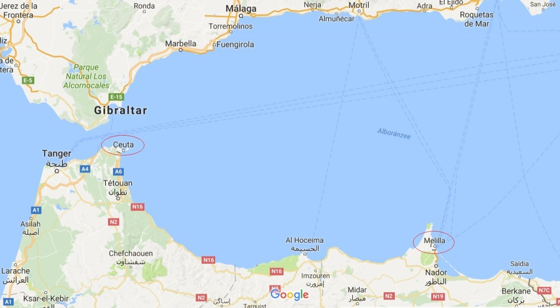 ceuta-mellila-maroc-europe-map