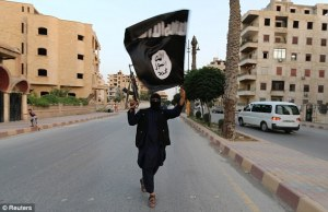 isis-fighter-flag-in-street