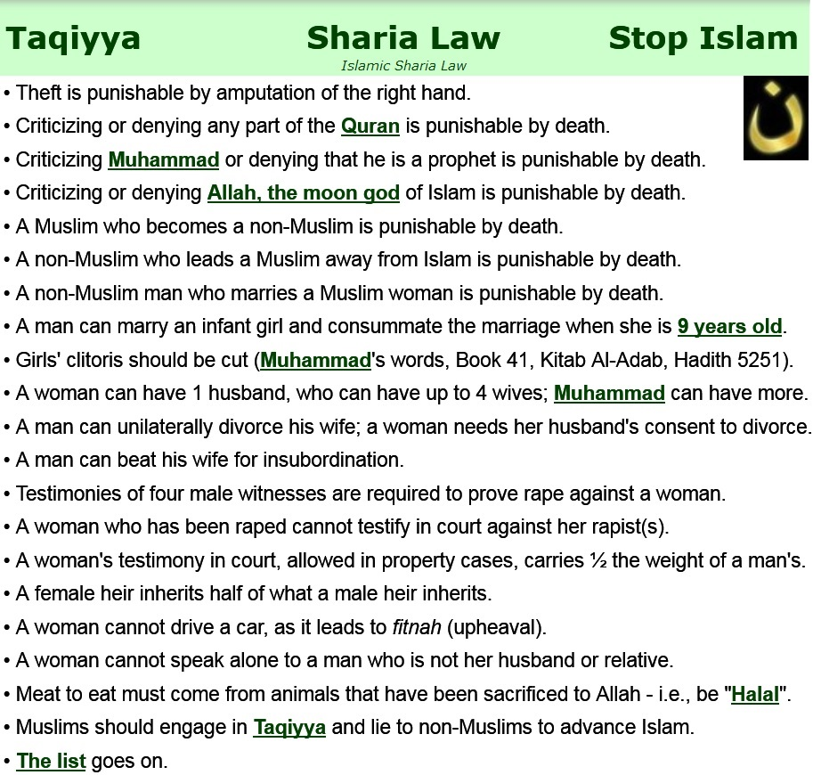 sharia-law-rules-list