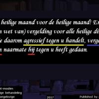 Koranlezing 9 mei 2017, Surah 2 / Ayat 194