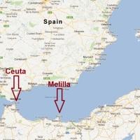 Bijna 200 migranten bestormen Ceuta