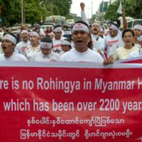Jihad praktiserende Rohingya-moslims verblijven illegaal in Myanmar