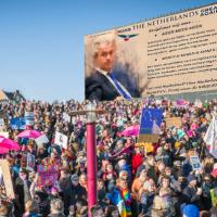 GR2018 stickeractie PVV voor de verkiezingen gemeenteraad 2018 enne... OP=OP