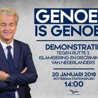 PVV: Rotterdam, Zaterdag 20 januari 2018, 14.00 uur. Demonstratie. Genoeg is genoeg!