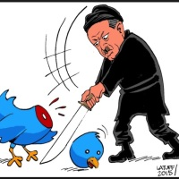 Turkey's president 'launches legal bid to remove cartoon showing him having sex with Twitter's blue bird mascot from social media'